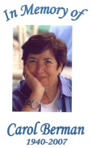 Carol Berman: 1940-2007